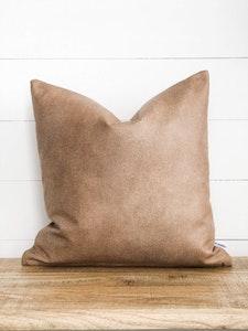 Cushion Cover - Camel Vegan Leather