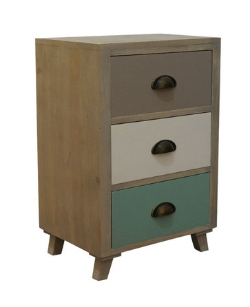Foxy bedside table with 3 drawers bedside tables for for Table 9 newtown