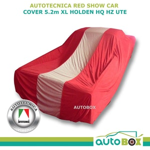 Red Autotecnica Show Car Cover fits Holden HQ HZ Ute X-Large 5.2m Softline