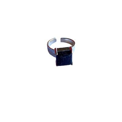 CocoKanela Enzo Ring -Blue goldstone 2021