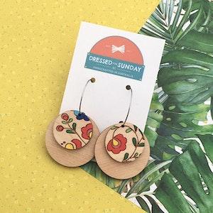 Mexi Folk Hoop Earrings