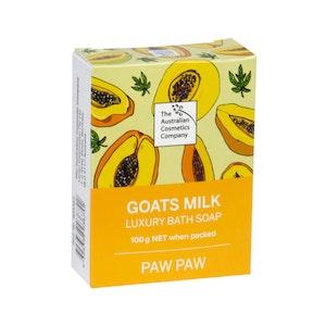 The Australian Cosmetics Company Goats Milk Bath Soap Paw Paw 100g Boxed