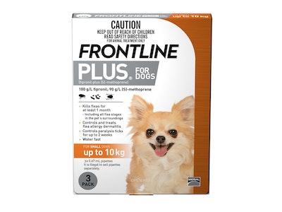 Frontline Plus Dog Small Up To 10kg Orange