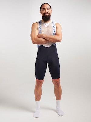 Black Sheep Cycling Men's Essentials TEAM Bib - Sakura Blue