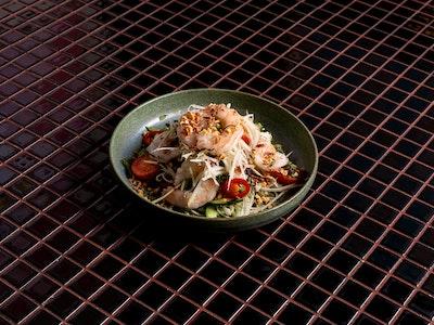 Poached Prawn Salad, Green Mango, Tomato