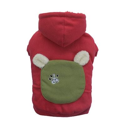 DoggyDolly SMALL DOG - Bunny Hood Doggy Sweatshirt Red