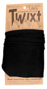Plain Classic Black Linen - Twixt / Wired Head Wrap