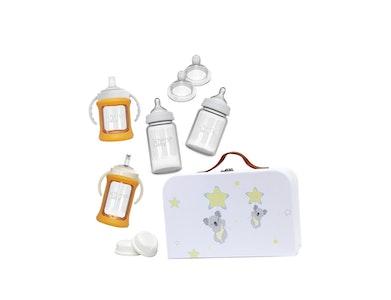 Glass Baby Bottles Starter Kit - Orange