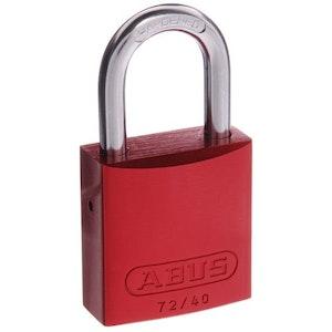 ABUS Aluminium Padlock 72/40 in Red Keyed to Differ