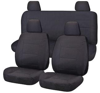 All Terrain Car Seat Covers for Nissan Navara D23 Series 3-4 NP300 Dual Cab 2015-2020 | Charcoal