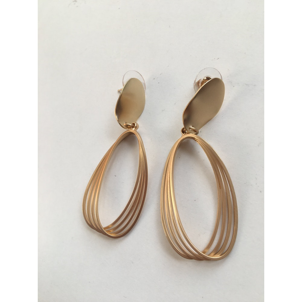 One of a Kind Club Multi Circled Gold Earrings