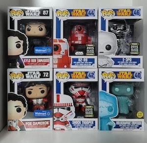 Stickered Star Wars Pop Vinyl Bundle