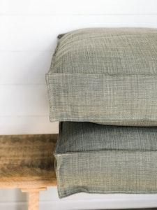 Floor Cushion Cover - Tussock 100% Belgian Linen