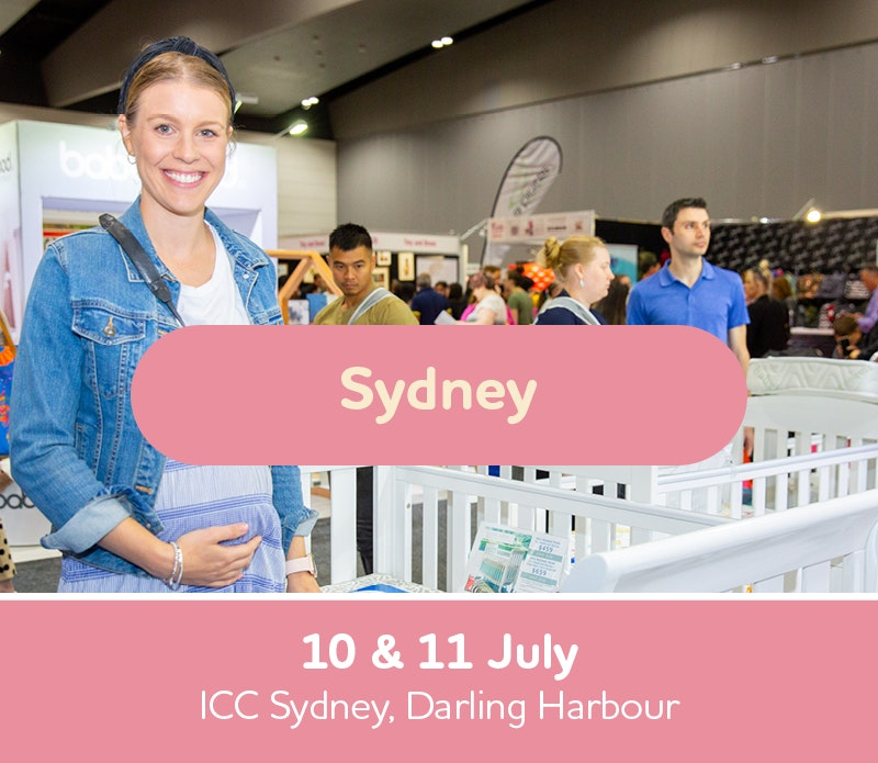 Text box with Sydney Expo Dates, 10th and 11th of July, ICC Sydney, Darling Harbour