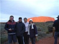At Yulara via Outback Australia Ross, Jo, Carol and Bill walk around Uluru and head for Kata Tjuta