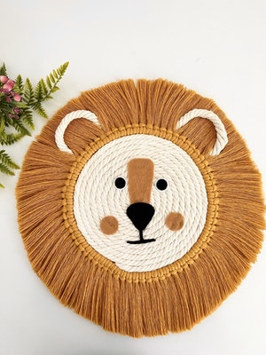 Sculptures of the Earth Macrame wall hanging - Macrame Lion
