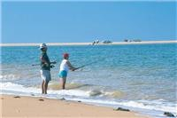 Beach Fishing. Courtesy Tourism WA