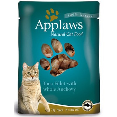Applaws Natural Cat Food Tuna With Anchovy Pouch 70g 16 Pack