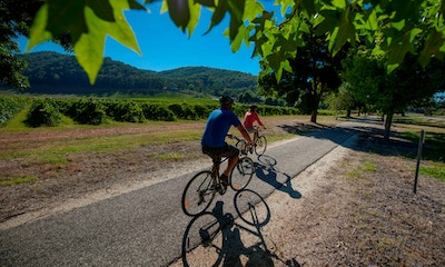 The Murray to Mountains Rail Trail - like riding on rails