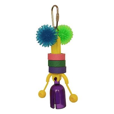 SuperBird Click Clack Bird Toy for Small Birds 15 x 6cm