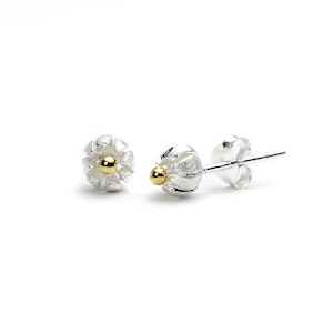 Cape Gooseberry Sterling Silver Studs