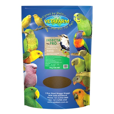 Vetafarm Insectapro Live Food Replacement for Pet Birds - 3 Sizes