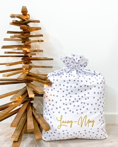 Santa Sack Grey Spots - Christmas Font