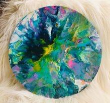 Original Paint Poured Artwork-Rainbow Evolution