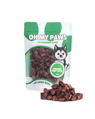 Oh My Paws Organic Beef Bites