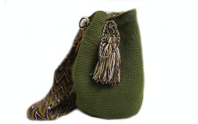 Continente Dorado Isashi Crossbody Bag-Green