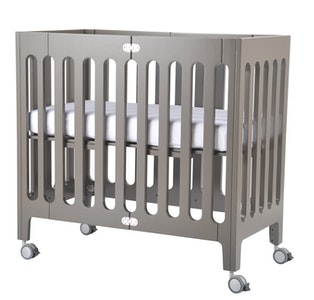 Alma Mini Crib Frost Grey FRAME ONLY