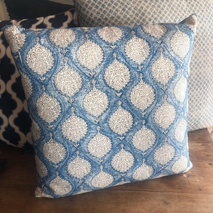 Burleigh pattern cushion