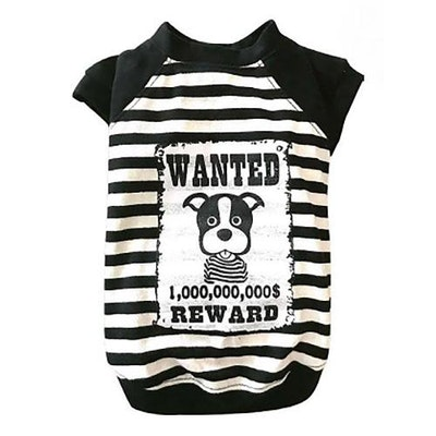 DoggyDolly THICK DOG - WANTED White Doggy T Shirt