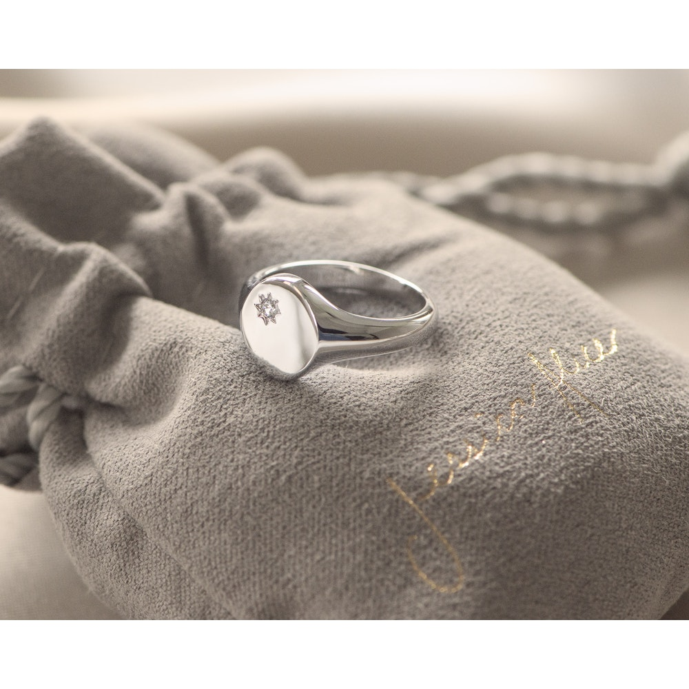 Jessica Alice Jewellery Sterling Silver Classic Signet Ring