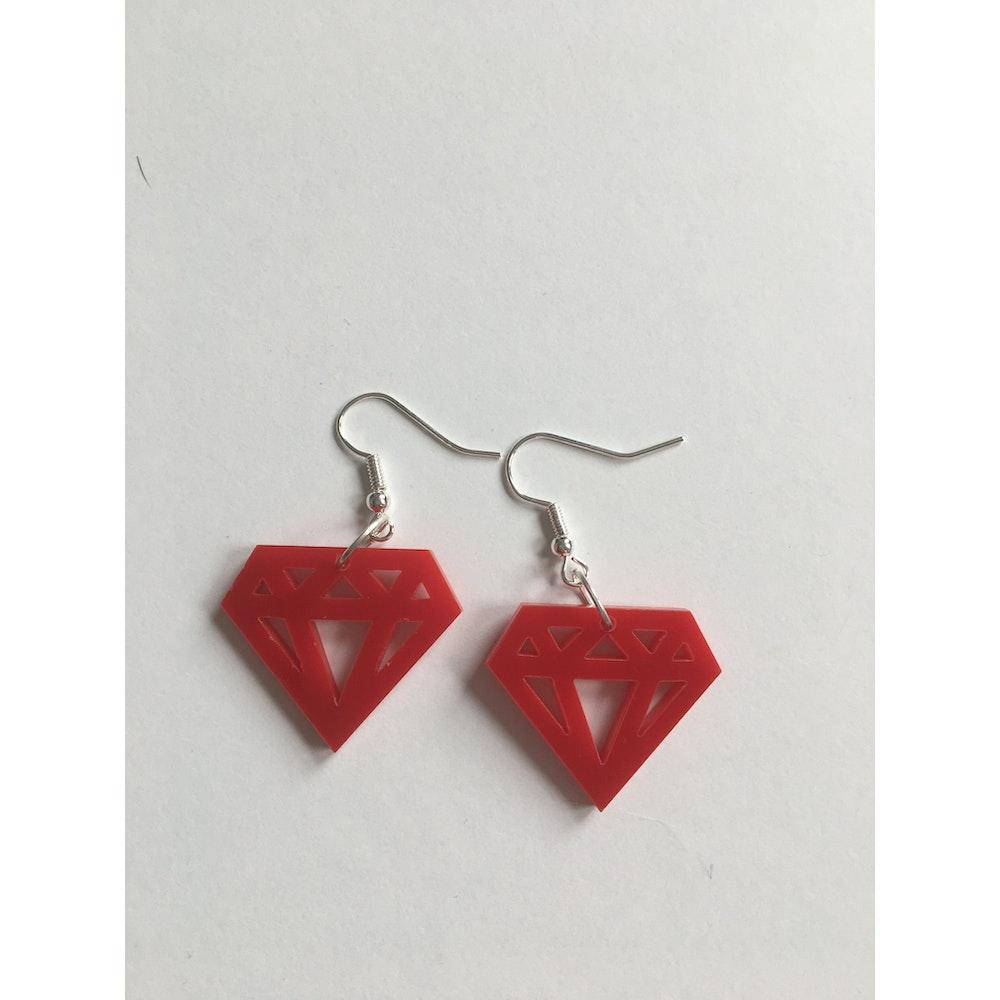 One of a Kind Club Red Diamond Earrings