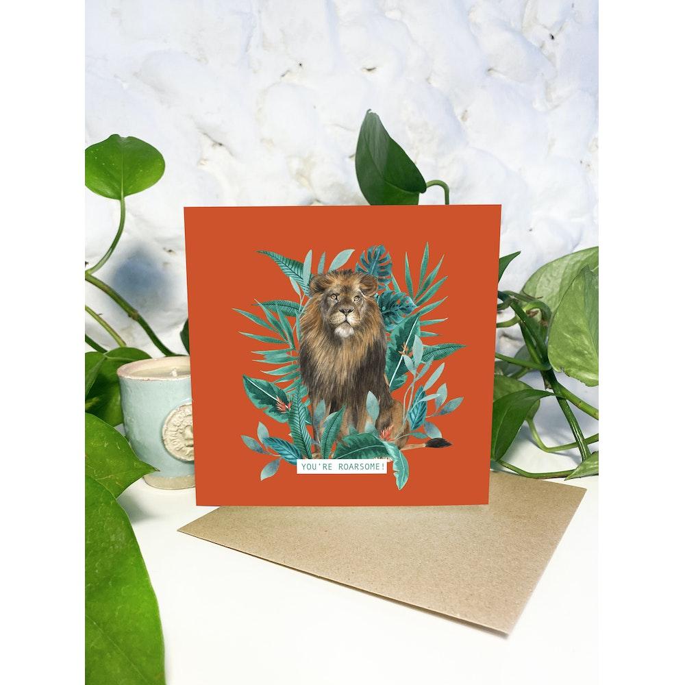 Laura Elizabeth Illustrations Lion Greetings Card