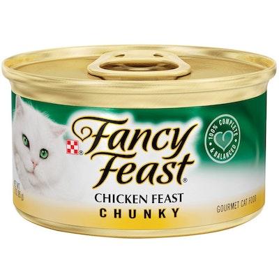 Fancy Feast Wet Cat Food Chicken Feast Chunky 24 x 85g