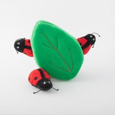 Zippy Paws Zippy Burrow - Ladybugs in Leaf Burrow