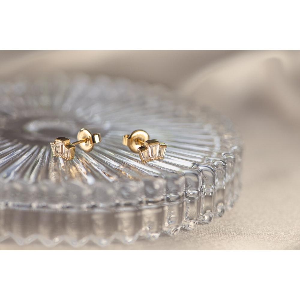 Jessica Alice Jewellery Art Deco Baguette Cluster Studs