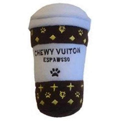 Dog Diggin Designs Chewy Vuiton Coffee Espawsso Dog Toy