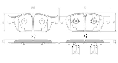 RDA EXTREME H/DUTY FRONT BRAKE PADS for MERCEDES-BENZ GL350CDi 2012 on RDX2396