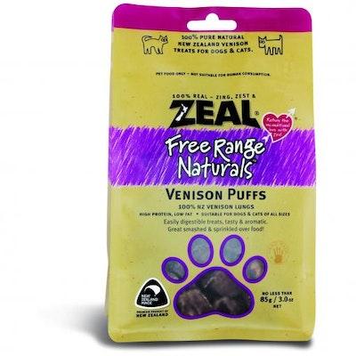 ZEAL FRN Zeal Free Range Naturals Venison Puffs Dog Treats 85G