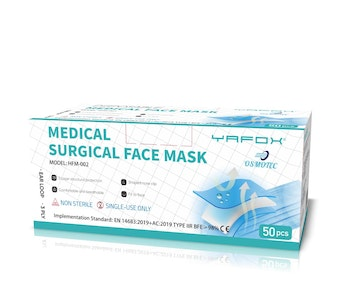 WH Safe Surgical Mask Type IIR 3-Ply - Pack of 50