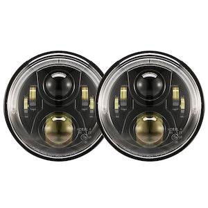 LIGHTFOX LIGHTFOX Pair 7inch LED Headlight for Jeep Patrol GQ