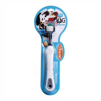 Triple Pet Ez-Dog Toothbrush for Large Breed Dogs