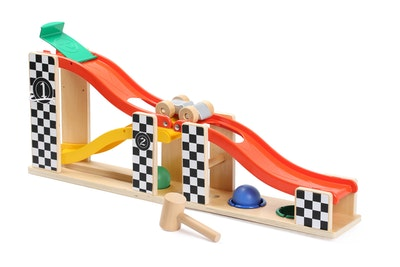 TOP BRIGHT 2 IN 1 RACING TRACK & POUNDING