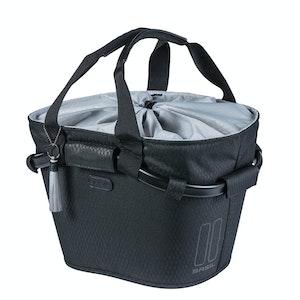 Basil Noir Carry All Front Basket Midnight Black