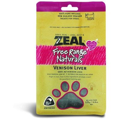 Zeal Free Range Naturals Venison Liver Dog Treats 125G