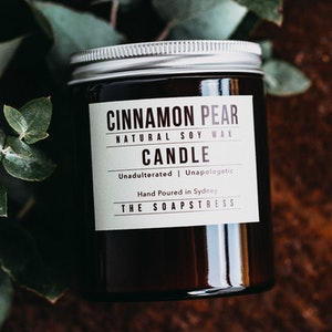 Amber Soy Candle - Cinnamon Pear
