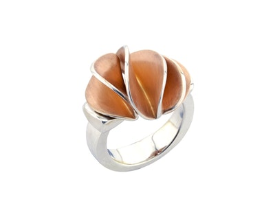 Rose gold and silver Leafbud